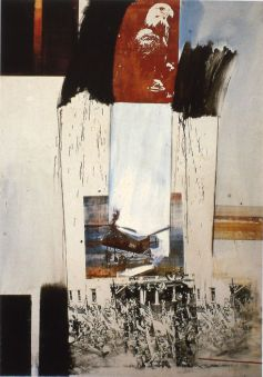 Composition in Collage by Robert Raushenberg—Retroactive II, 1963