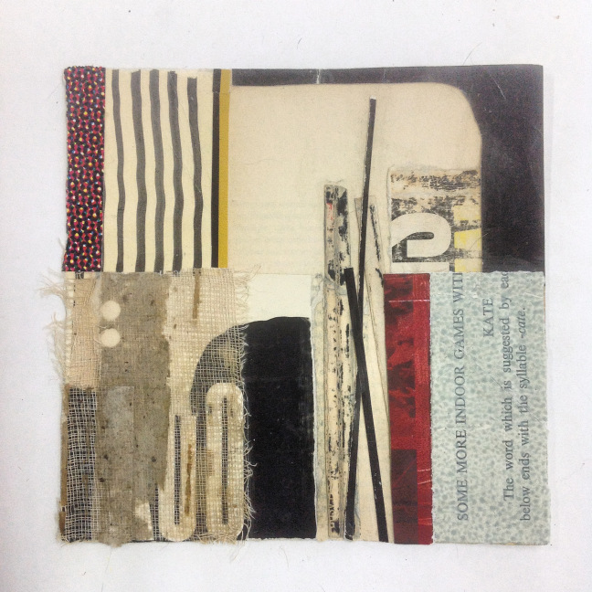 Visual weight in composition of collage by melinda tidwell