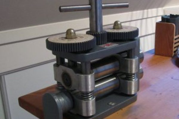 A rolling mill used to make jewelry