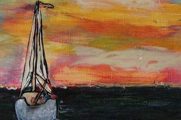 A painting by Donald Kolberg created using a Strappo
