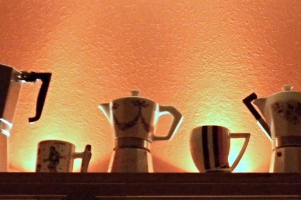 Donald Kolberg's espresso pot collection