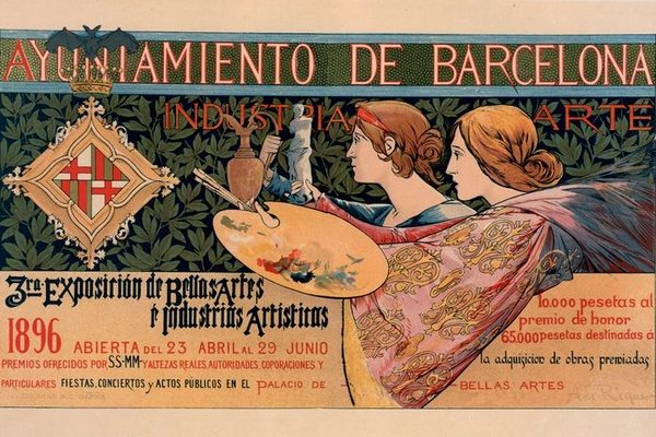 Poster for an exposition of art in Barcelona, 1896