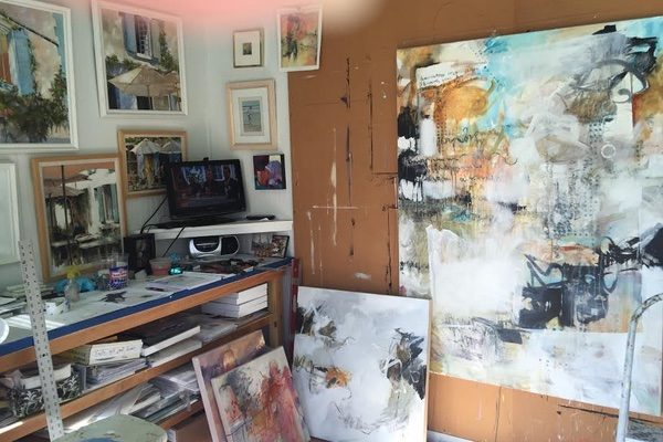 Painter Beau Wild's art studio