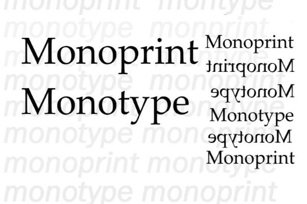 text of monoprint and monotype