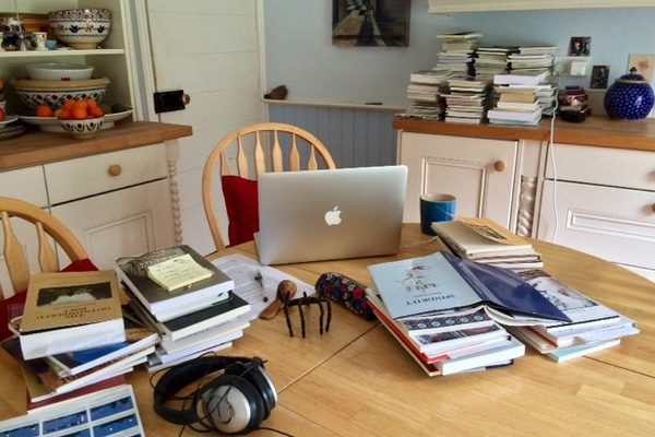 Writer Eleanor Hooker's workspace at home
