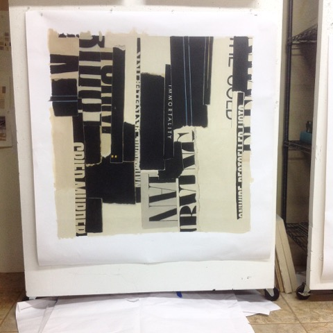 Abstract art work in progress | Melissa Tidwell's art studio, Santa Fe, New Mexico