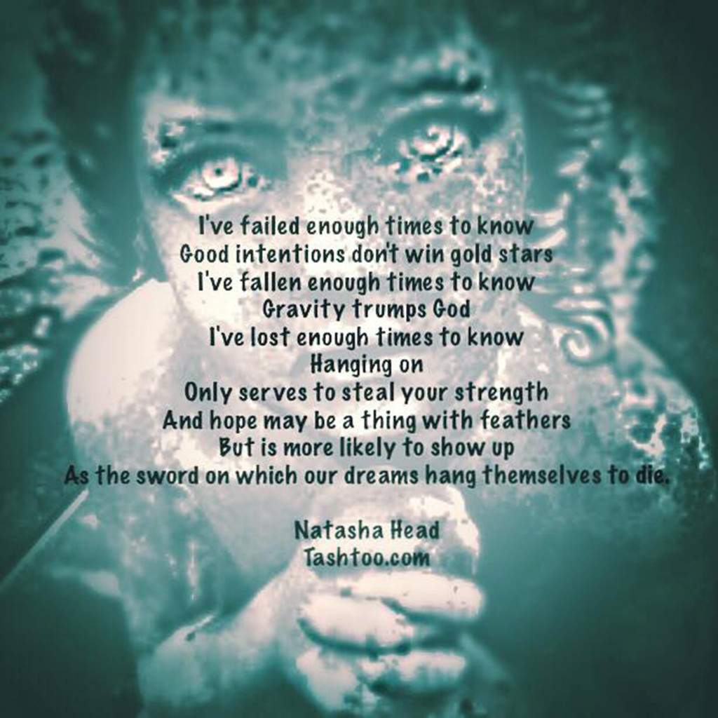 Natasha Head's transformative failure poem, Failed Enough. Read it to learn how to let go.