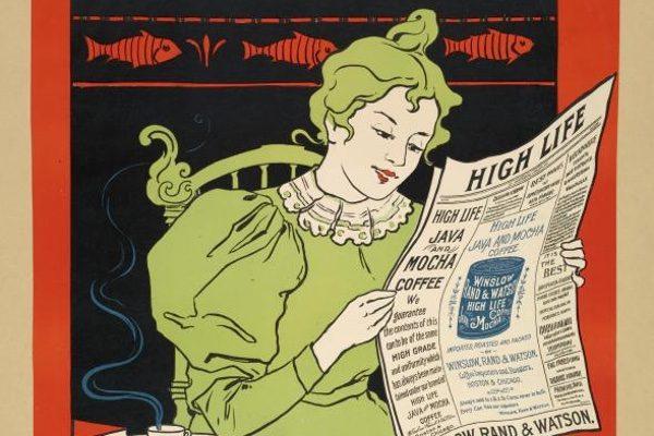 advertisement for Winslow Rand & Watson coffee