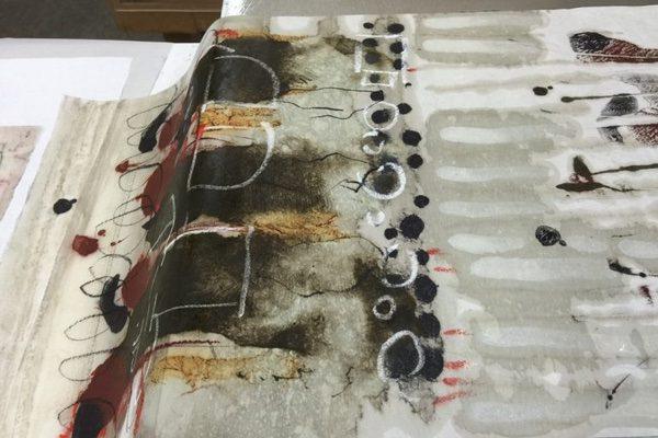 Encaustic Monotype by artist Pamela Caughey