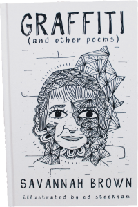 Cover of Graffitti and other poems, book by poet and content creator Savannah Brown