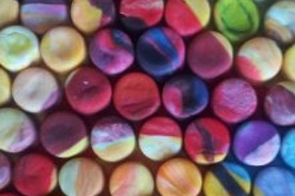 Play Doh Mosaic Art by Lacy Knudson