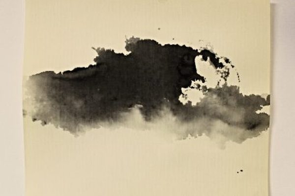 An ink wash made using glass by Donald Kolberg