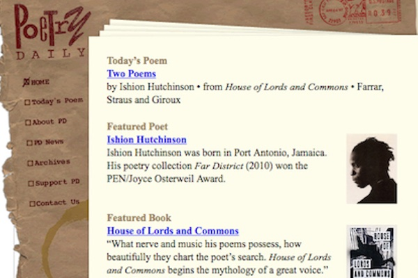 Site Review: Poetry Daily