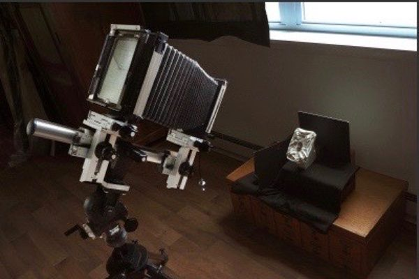 Stephen Althouse's studio, his 5x7 inch view camera