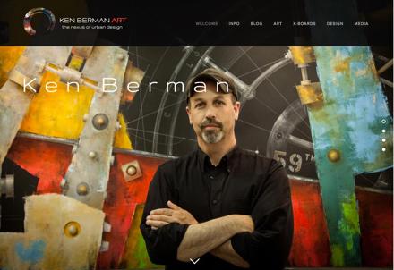 The home page of artist Ken Berman's website