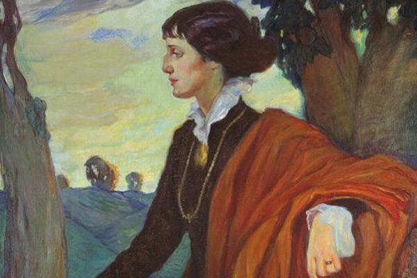 Portrait of Anna Akhmatova by Olga Della-Vos-Kardovskaya, 1914.
