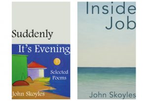 The covers of Suddenly, It's Evening and Inside Job by John Skoyles