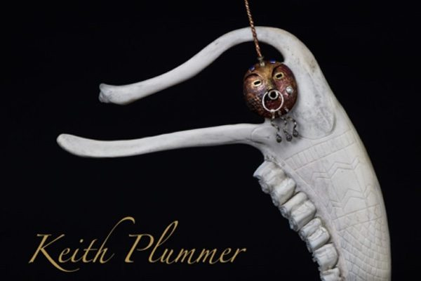 homepage of Keith Plummer's website, featuring his sculpture Unicorn