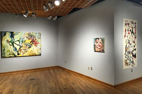 Gallery view of Kim Rae Taylor's paintings