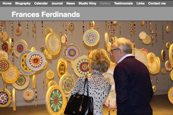 Home page of artist Frances Ferdinands' site