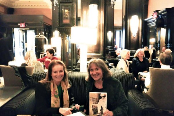 Writers Donna Baier Stein and Susan Tepper at the Algonquin Hotel