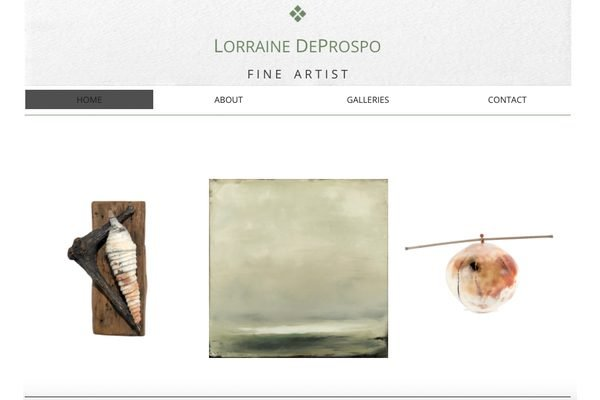 The home page of Lorraine DeProspo's website