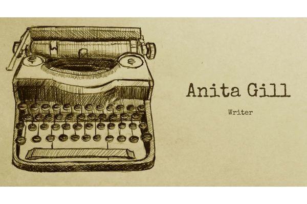 The banner of Anita Gill's writing website