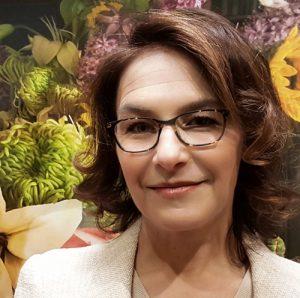 Headshot of art curator Rebecca Michelman