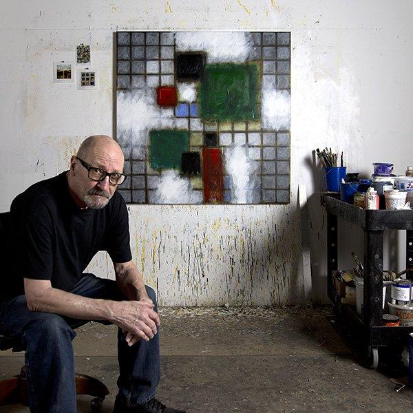 Photographer Barry Masteller in his studio