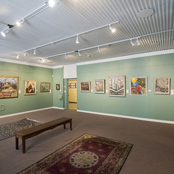 A room in the T.W. Wood Gallery in Vermont