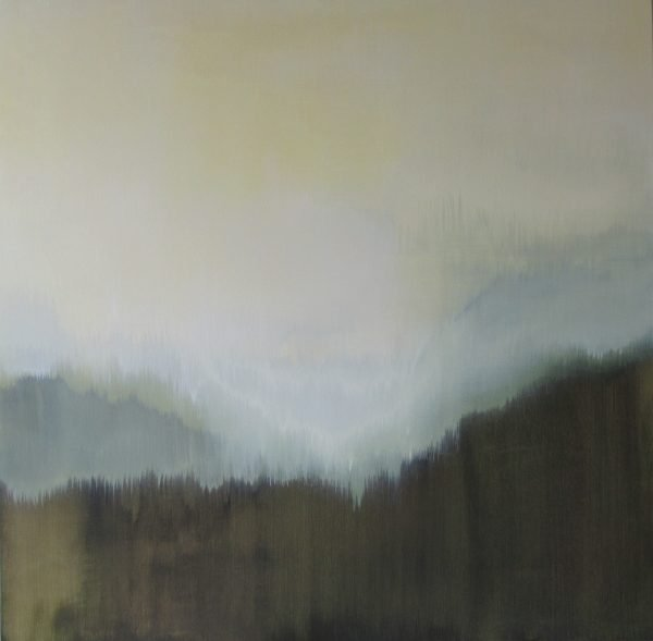 A muted, abstract painting by Cynthia Grow