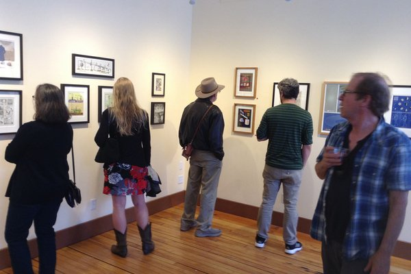 Visitors to the White River Gallery at an exhibition