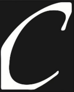 Black and white logo for Counterpoint Press