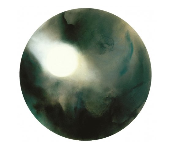 A circular abstract oil painting