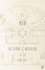 The cover of MEM by Bethany C. Morrow, a white bank vault