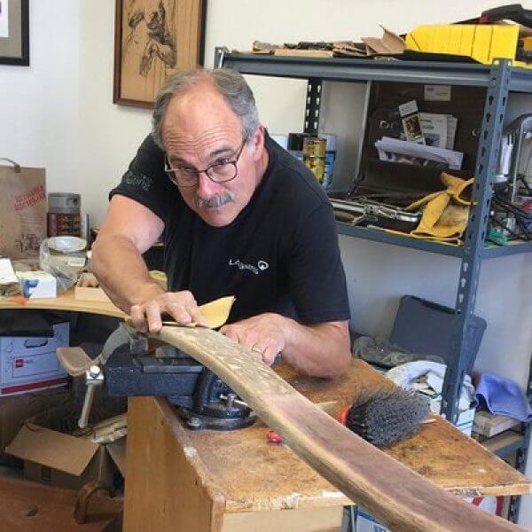Michael Kesselman in his studio