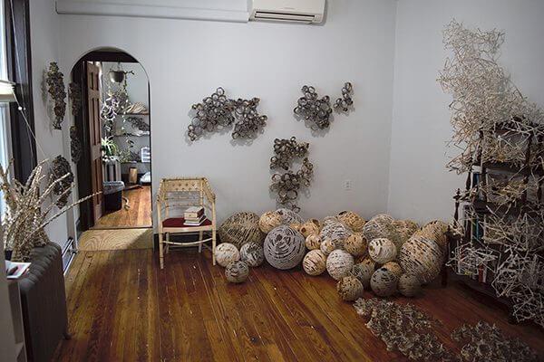 Materials in Hanna Vogel's studio