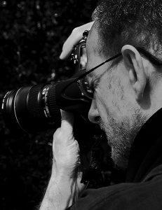 David Quinn shooting with his camera.