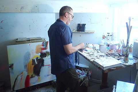 David Criner in his studio