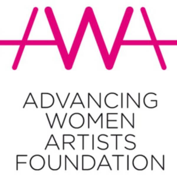 the logo for advancing women artists foundation