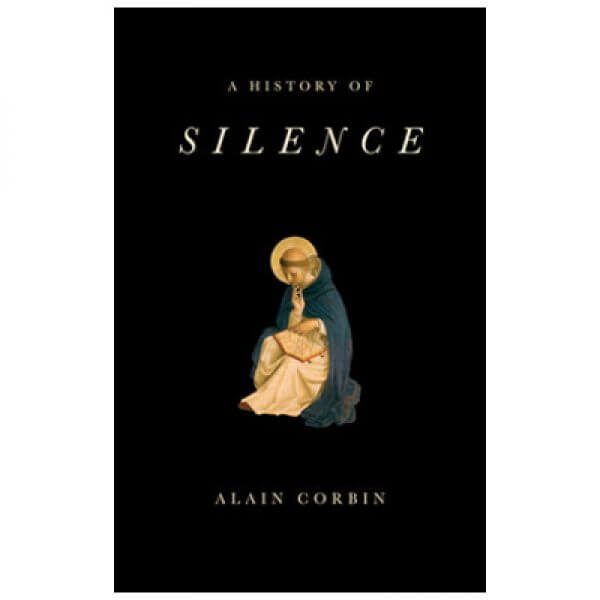 Cover of the book A History of Silence with an idol on a black background