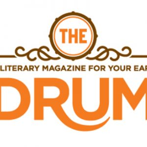 logo for the literary magazine the drum
