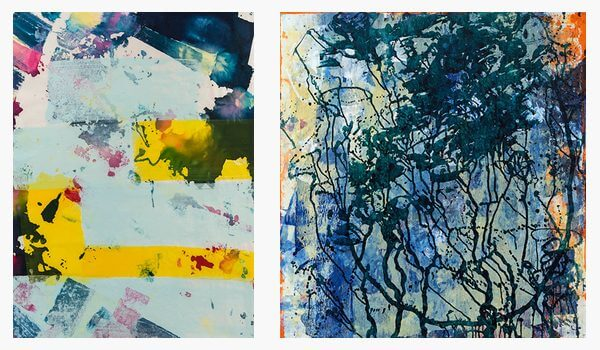 Colorful abstract ink prints