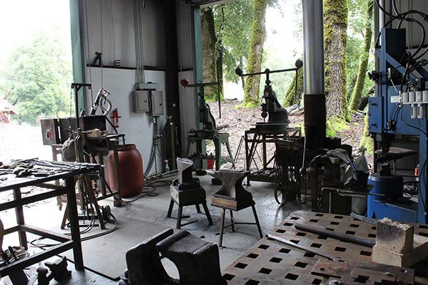 An array of larger tools in Monica Coyne's studio