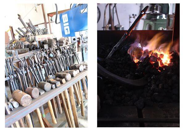 Monica Coyne's blacksmith tools