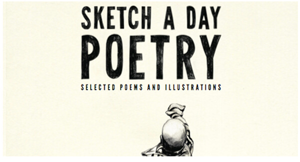 book cover with sketch a day poetry