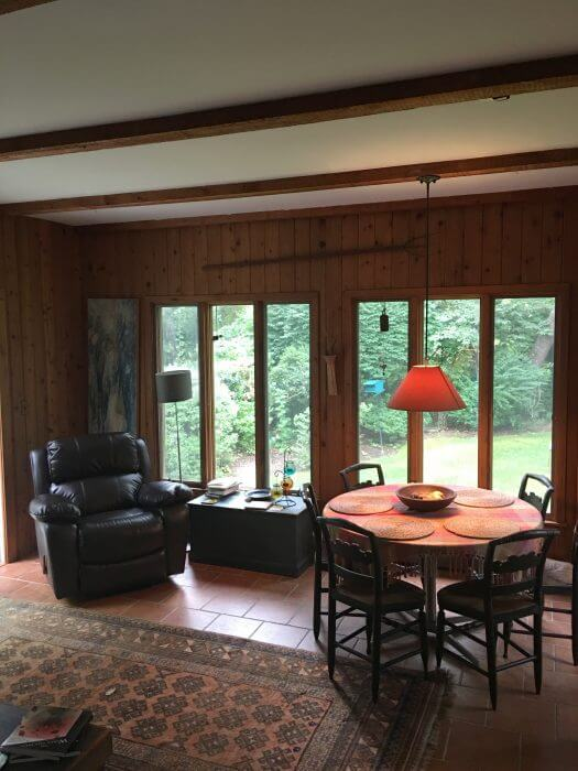 sunroom of Amangansett retreat house: submit for a chance to win.