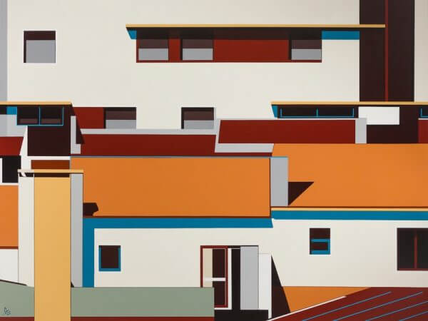 "Cidade da Luz by Gordon Leverton. acrylic on canvas, 60"" x 72"""