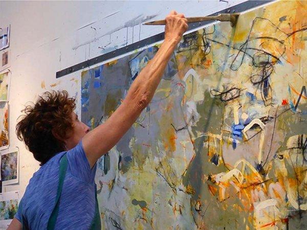 artist Krista Harris in her studio.
