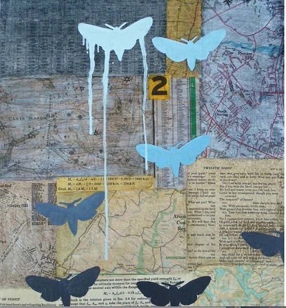 Maya Kuvaja, With Bated Breath mixed media art piece